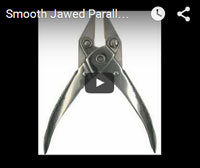 smooth jawed parallel pliers