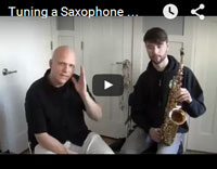 tuning a saxophone neck